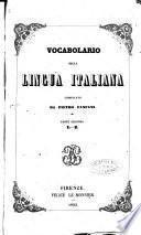 Vocabolario della lingua italiana compilato da Pietro Fanfani