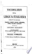 Vocabolario della lingua italiana compilato sui dizionarii Tramater, D'Alberti, Manuzzi, Gherardini, Longhi, Toccagni e Bazzarini