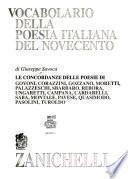 Vocabolario della poesia italiana del Novecento
