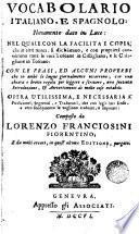 Vocabolario español e italiano, vocabolario italiano e espagnolo, 1