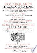 Vocabolario Italiano E Latino