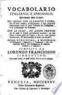 Vocabolario Italiano e Spagnolo ... da molti errori, in quest'ultima edizione, purgato