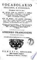 Vocabolario italiano e spagnolo