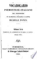 Vocabolario piemontese: italiano. Ed. 6., corr. ed accresciuta