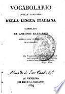 Vocabolario usuale tascabile della lingua italiana compilato da Antonio Bazzarini