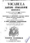 Vocabula latini italie sermonis, 1