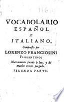 Vocabulario español e italiano
