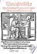 Vocabulista ecclesiastico latino e vulgare