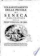 Volgarizzamento delle pistole di Seneca e del Trattato della provvidenza di Dio
